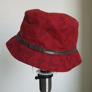 Wool and Leather Coach Hat